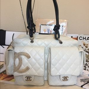 CHANEL Bags - ❤️TRADED❤️Chanel XL cambon Reporter python CC